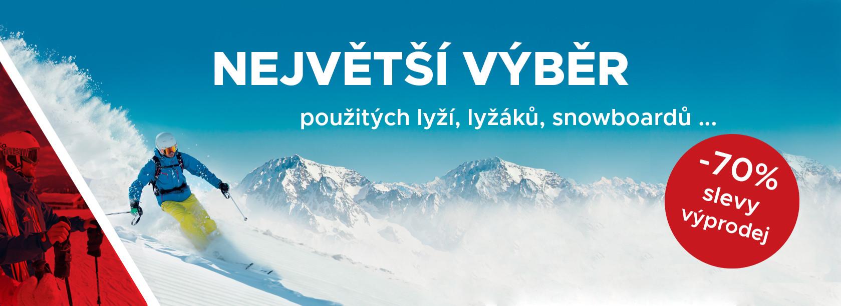 Největší výběr lyží a lyžáku -70%